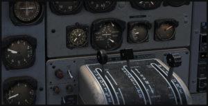 Tableau de bord du Otter avec le mélange air/essence ajusté.