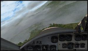 Virage en descente dans la vallée pour une approche vers Launumu.
