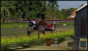 Avion de type Otter stationné sur la piste de Launumu en Papouasie Nouvelle-Guinée.