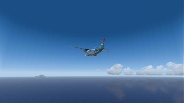 Le Shorts 360 et l'Île de SABA en vue.