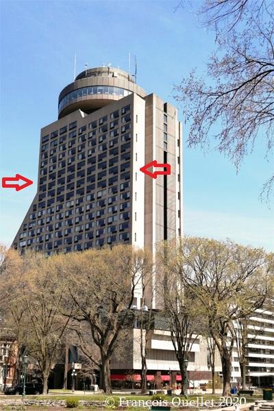 Hôtel Le Concorde et les chambres réservées aux patients en repos après avoir été atteints du coronavirus.