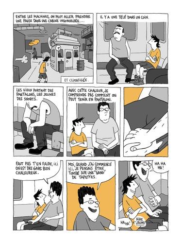 """Page du roman graphique """"Chroniques de jeunesse"""" de Guy Delisle"""