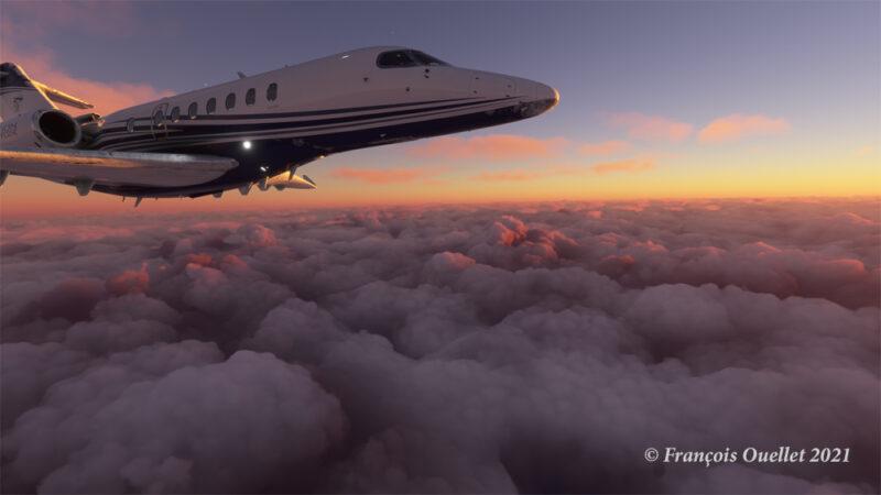 En route vers Iqaluit (CYFB) avec le simulateur de vol MFS 2020.