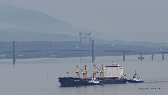 Le vraquier Spar Taurus arrive au port de Québec en juin 2021.
