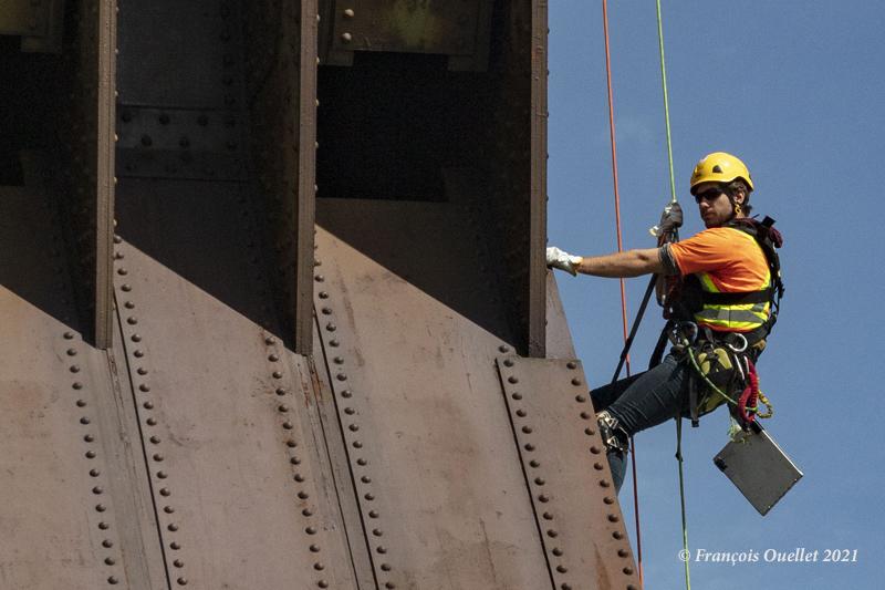 Inspection du Pont de Québec en 2021
