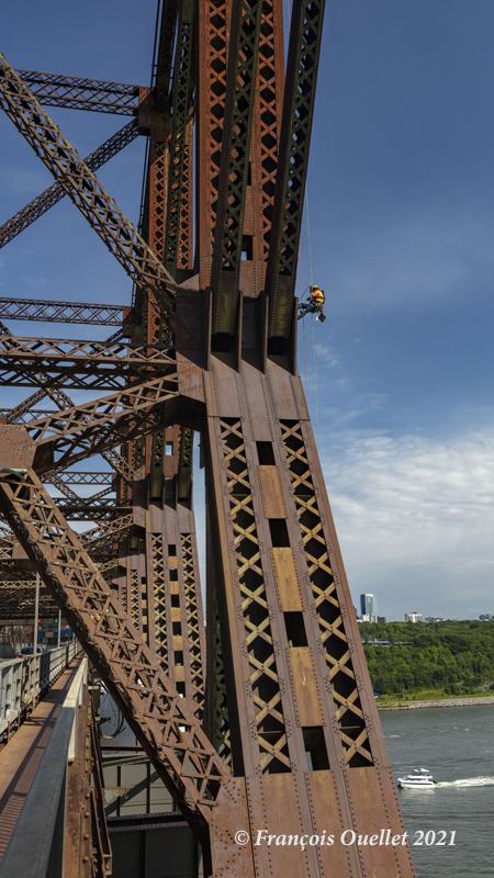 Inspection du Pont de Québec le 29 juillet 2021