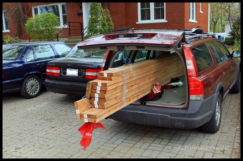 Chaque pièce de bois est sélectionnée individuellement.
