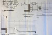 Une des pages du plan de construction.