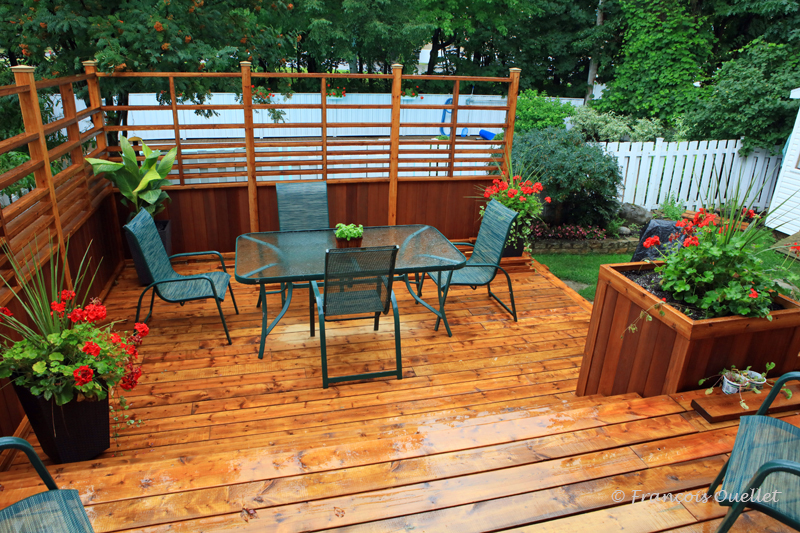 Une partie du nouveau patio.