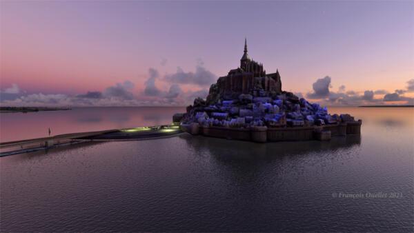 Le Mont St-Michel en France, sous MFS 2020.