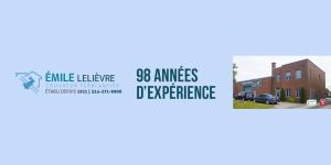 98 ans d'expérience Couvreur Émile Lelièvre