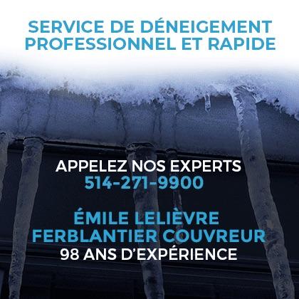 Service de Déneigemen de toiture Montréal Émile Lelievre Ferblantier couvreur 2