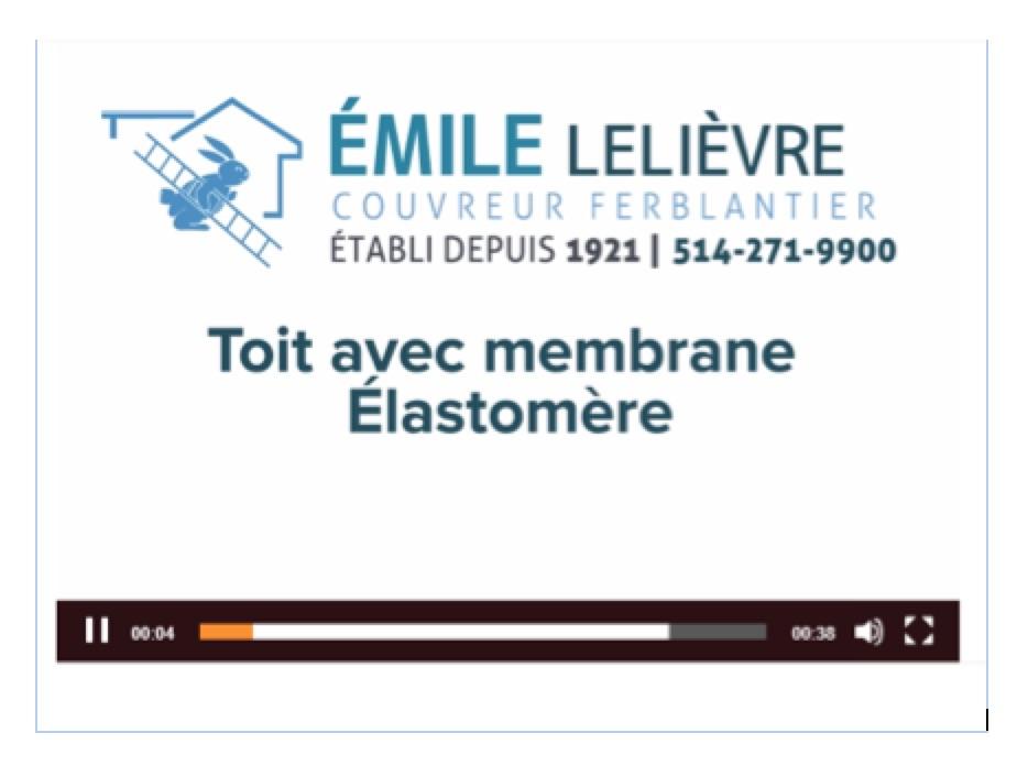 Toit membrane elastomere Couvreur Emile Lelievre Ferblantier