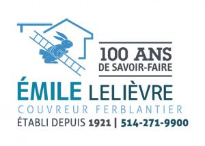 Logo-Couvreur Emile Lelievre Ferblantier 100 ans de savoir-faire ELFC_2017_Couleurs100ans600x380