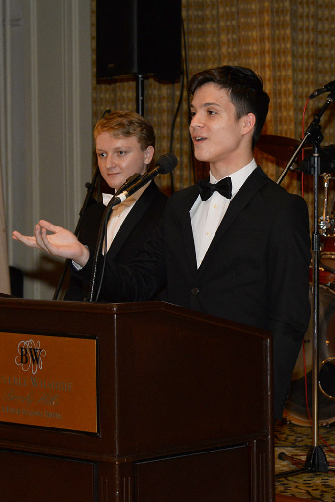 One of the organizers and young ambassador: Ethan Feldman