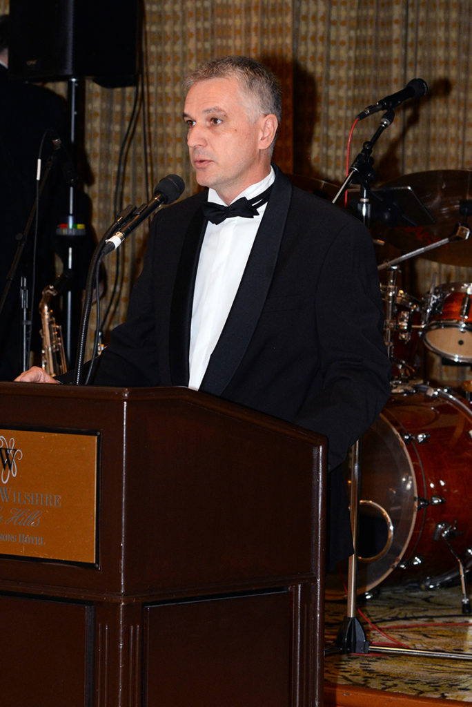 H.E. Tamas Szeles, Consul General of Hungary delivers his Greetings