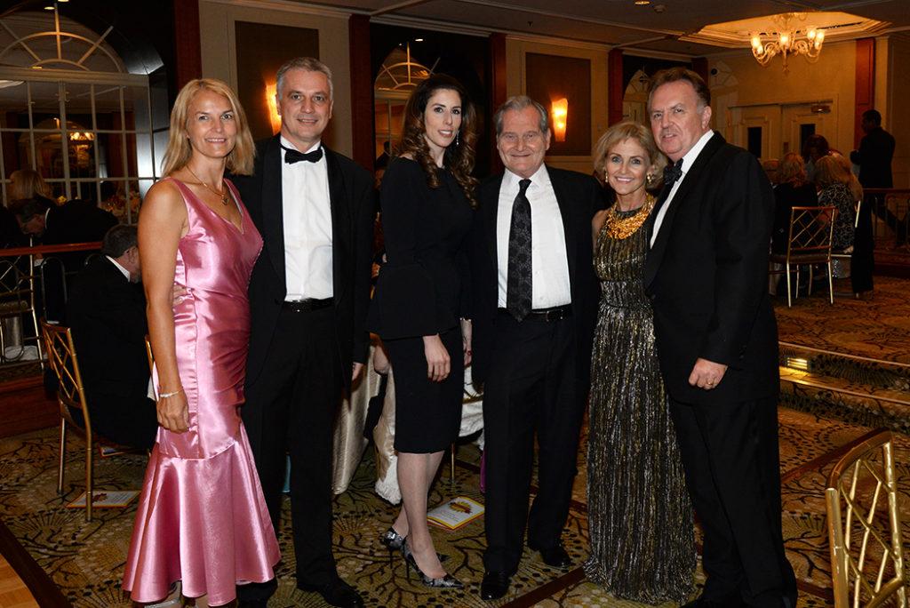 Left to right: Nagy Ildiko, H.E. Tamas Szeles, Chanie Friedman, Dr. Andrew Friedman,  Susan Pekarovics, M.D. Attila Beres, Ph.D.