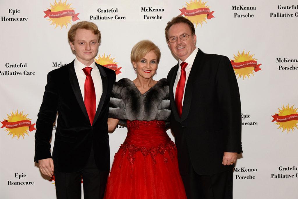 Adam Beres , and parents Susan Pekarovics, MD and Attila Beres, PhD