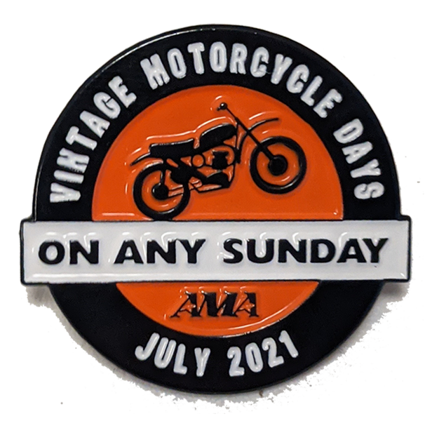 2021 AMA Vintage Motorcycle Days Event Pin