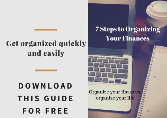 7 steps to organizing finances cta