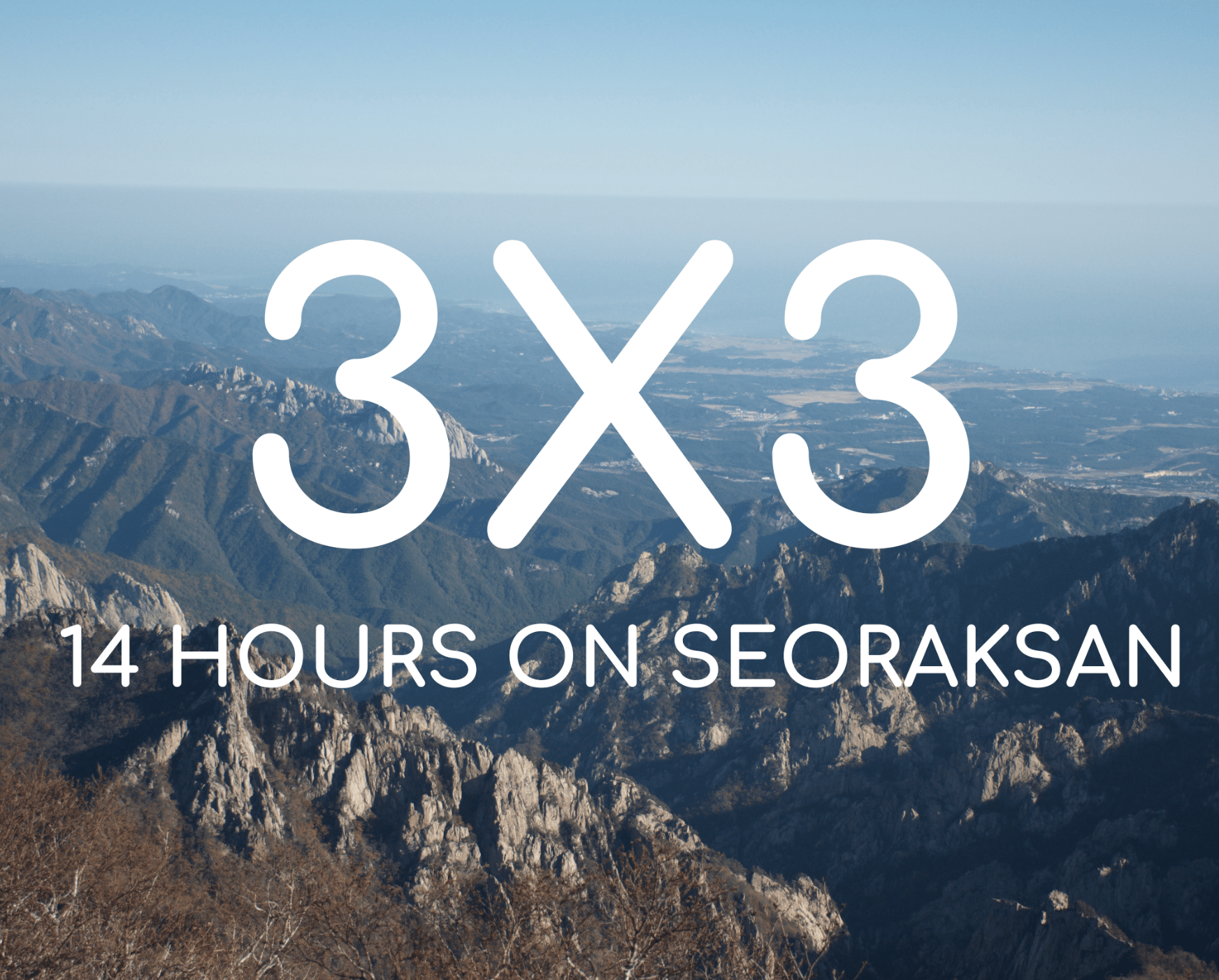 3X3 Hike on Seoraksan