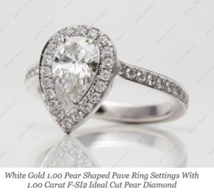 $5,295 Pear Halo Engagement Ring | Engagement Ring Voyeur