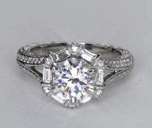 $9,149 Designer Vintage-Style Setting on Blue Nile | Engagement Ring Voyeur