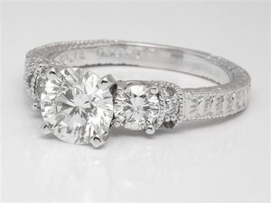 Flawless Three Stone Vintage from James Allen | Engagement Ring Voyeur