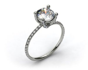 A Pave Prong Setting from James Allen | Engagement Ring Voyeur