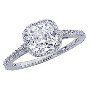 $2,380 Cushion Cut Halo from Chandni Jewels | Engagement Ring Voyeur