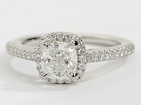 A Cushion Cut Halo Ring for Under $6000? | Engagement Ring Voyeur