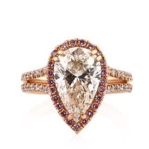 Pear Halo in Rose Gold for $2,464 | Engagement Ring Voyeur