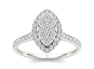 Marquise Composite Engagement Ring