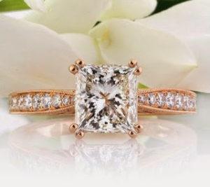 A Unique, Rose Gold Engagement Ring for $13,450   Engagement Ring Voyeur