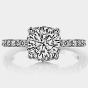 Petite Pave Prong Engagement Ring for $1,774 | Engagement Ring Voyeur