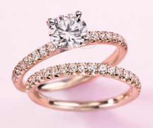 A Rose Gold Engagement Ring for Valentines Day $3409 | Engagement Ring Voyeur