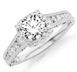 2.25 Carat Designer Halo Channel Set Engagement Ring for $5670 | Engagement Ring Voyeur