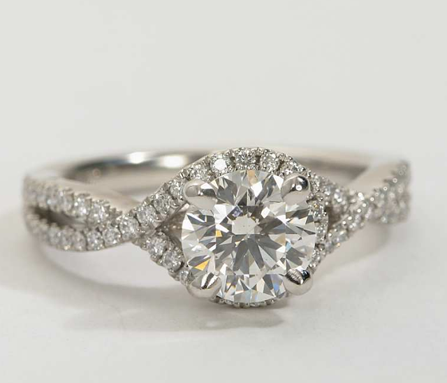matching wedding band for twisted shank engagement ring