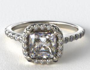 A James Allen Halo Setting 5 Ways | Engagement Ring Voyeur