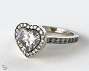 A Heart Shaped Halo Setting A La GaGa   Engagement Ring Voyeur