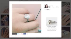 James Allen Pear Halo Engagement Ring On Finger | Engagement Ring Voyeur