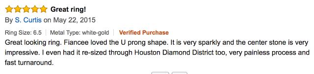 1.4 Carat Classic U Prong Diamond Engagement Ring with a 0.75 Carat G-H SI1-SI2 Center