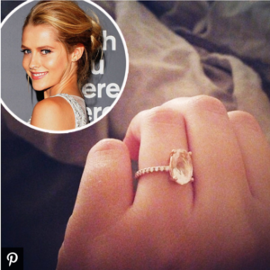 Teresa Palmer's Rose Quartz Engagement Ring | Engagement Ring Voyeur