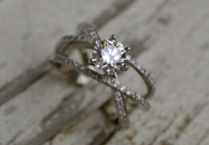 $18,609 2+ Carat Contemporary Setting from Houston Diamond District | Engagement Ring Voyeur
