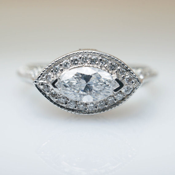 marquise halo east-west setting