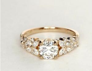 Monique L'Hullier Petal Garland Ring Under $10,000 | Engagement Ring Voyeur