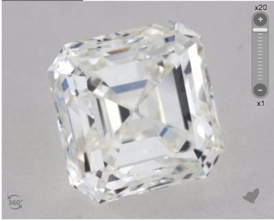 1.22 ct asscher diamond