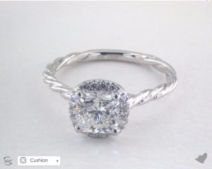 Cabled Halo Setting by James Allen | Engagement Ring Voyeur