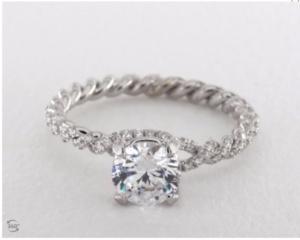 Danhov Eleganza Engagement Ring Setting | Engagement Ring Voyeur