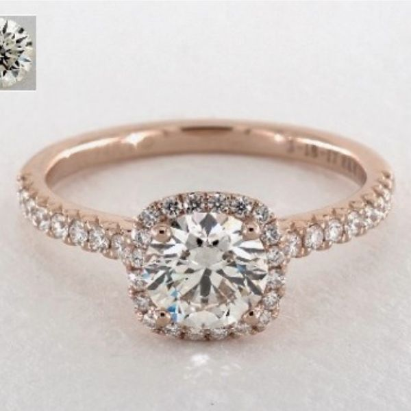 K Color Diamond in Rose Gold